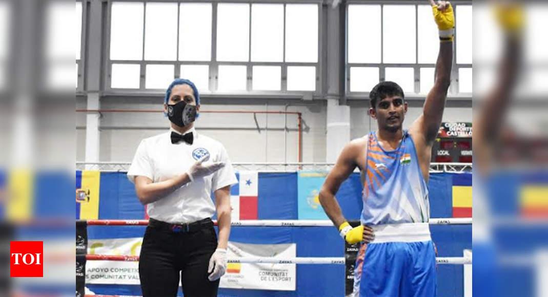 Boxer Manish Kaushik strikes gold at Boxam International | Boxing News – Times of India
