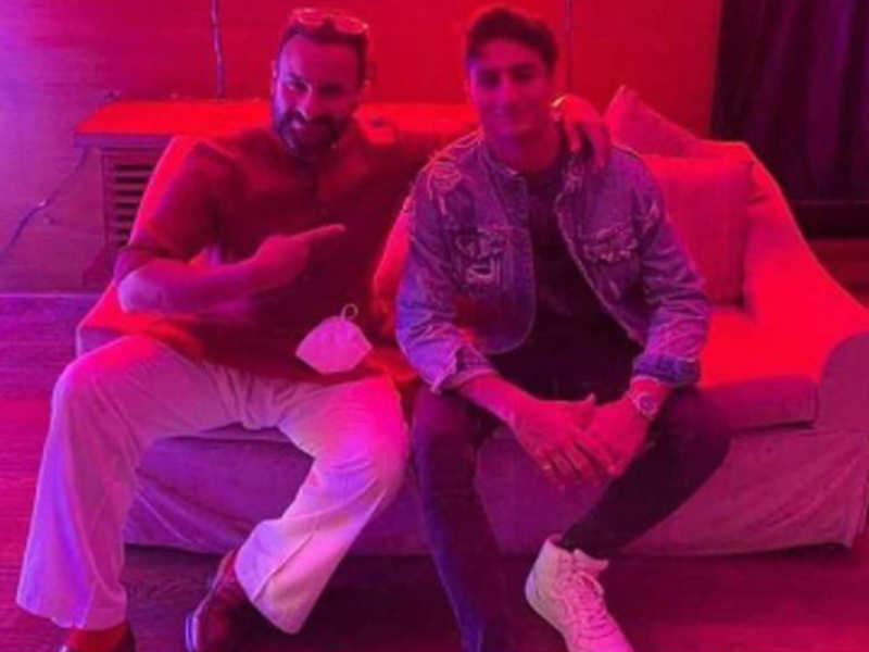 Here's an unseen picture of Saif Ali Khan at son Ibrahim's birthday bash