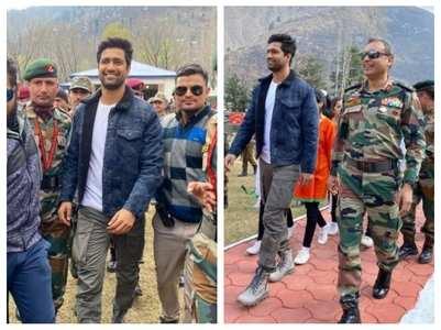 Vicky Kaushal visits Uri Base Camp in Kashmir