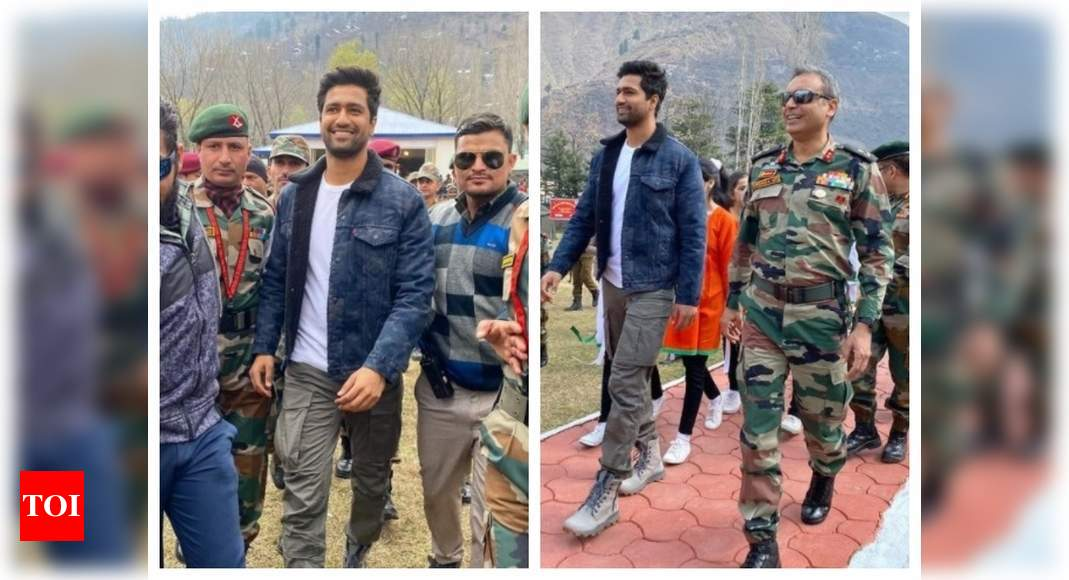 Vicky Kaushal visits Uri Base Camp in Kashmir