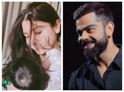 Virat shares a cute pic of Anushka & Vamika