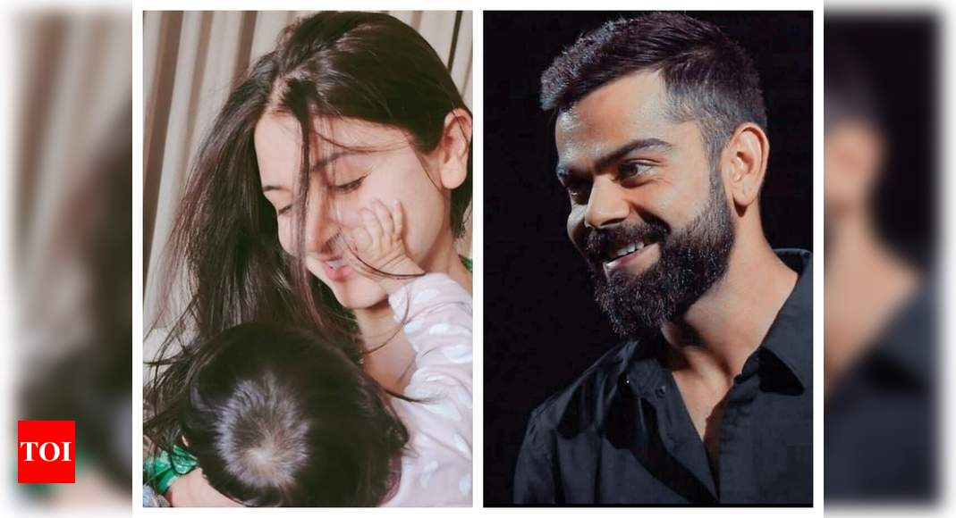 Virat Kohli shares a sweet picture of wife Anushka Sharma and daughter Vamika as he pens a heartfelt Women's Day post for them – Times of India