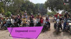 Women bikers storm the roads on Women's Day