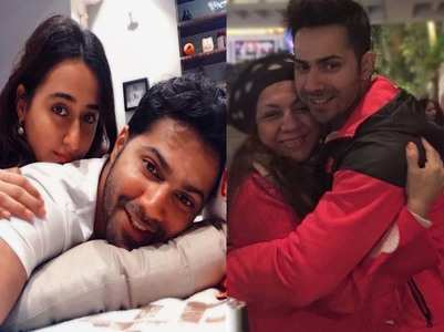 Varun shares pics with his wife Natasha & mom