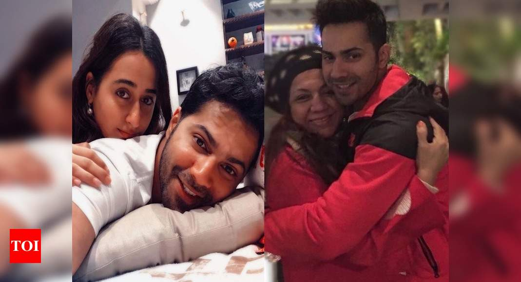 Varun Dhawan shares pictures with his wife Natasha Dalal, mother and sister-in-law: Real job will be done - Times of India