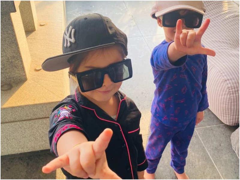 Karan Johar shares a glimpse of his adorable twins Yash and Roohi