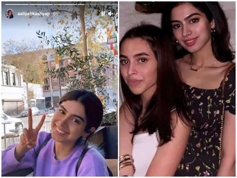 Aaliyah Kashyap beams with joy as her 'wife' Khushi Kapoor pays a visit to her in US