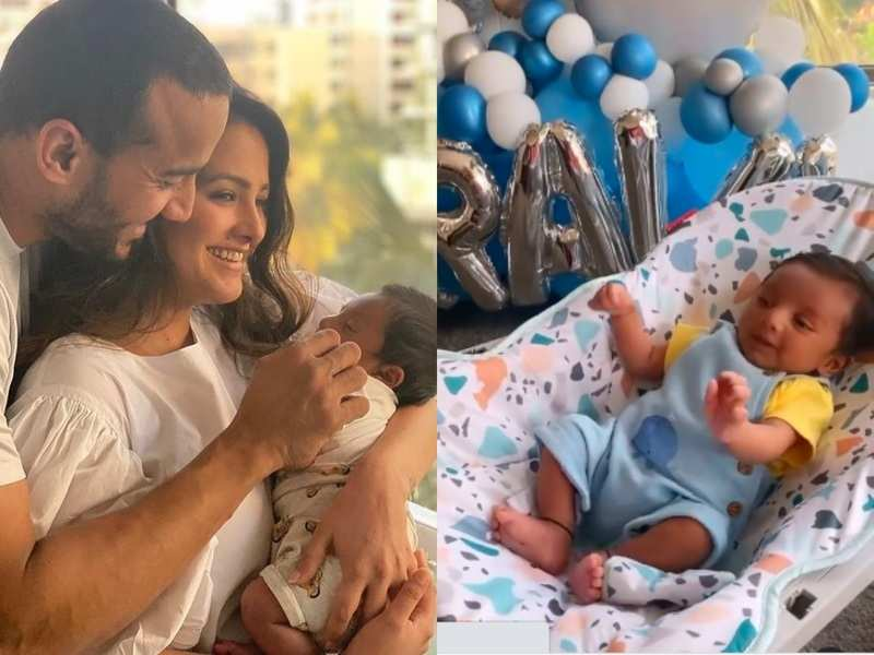 Anita Hassanandani and Rohit Reddy get into 'Pawri' mode as their baby boy turns a month-old