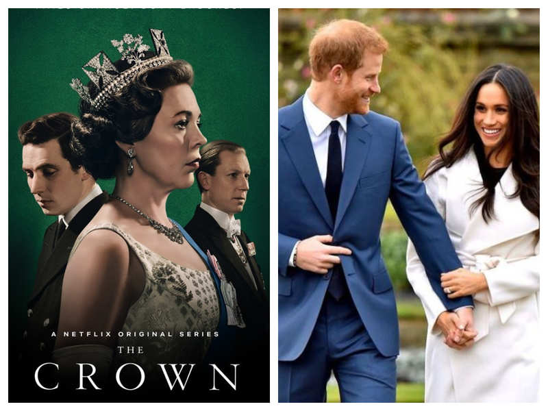 Pic: The Crown Poster; The Duke and Duchess of Sussex Instagram