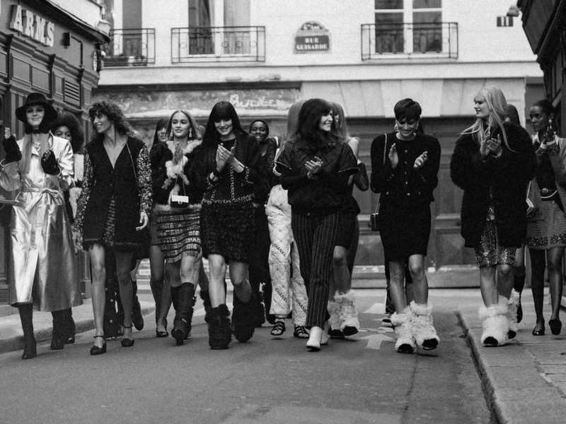 Winter resort recreated at Paris Fashion Week