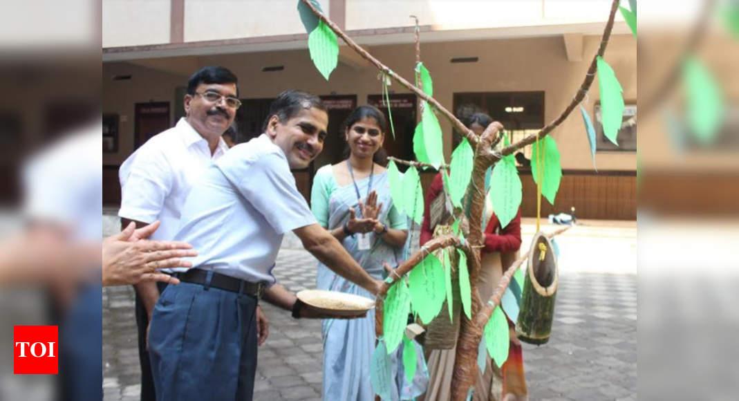 Alva's students make bird-feeders, keep water for urban birds – Times of India