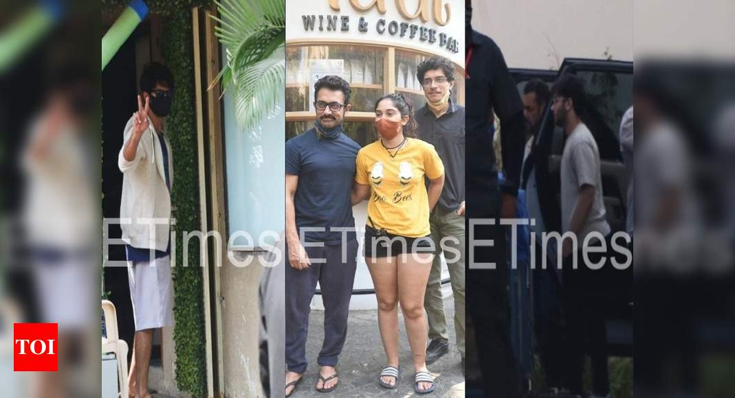 ETimes Paparazzi Diaries: Salman Khan spotted at a studio, Aamir Khan snapped with daughter Ira Khan at a café, Shahid Kapoor steps out for a test drive – Times of India