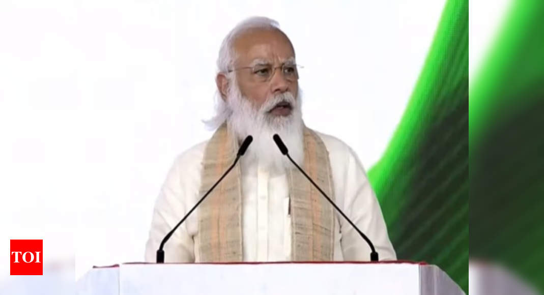 75 weeks ahead of 75th Independence Day, PM Modi launches Amrit Mahotsav: Highlights - Times of India
