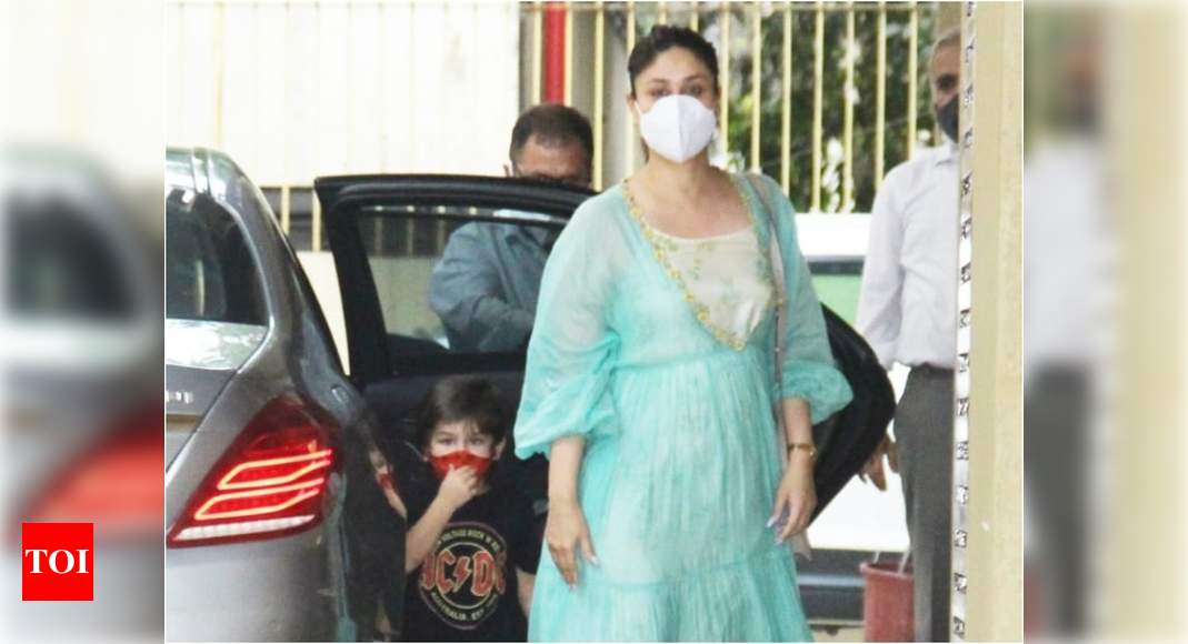 Taimur Ali Khan runs into a glass door as he arrives with mommy Kareena Kapoor Khan for Samaira's birthda - Times of India