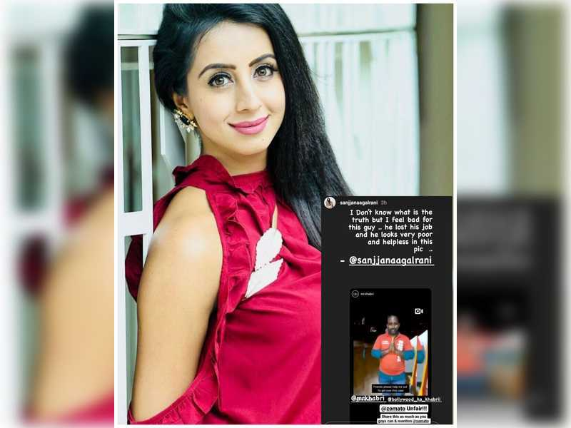 Sanjjanaa Galrani shares her thoughts on Zomato delivery boy case