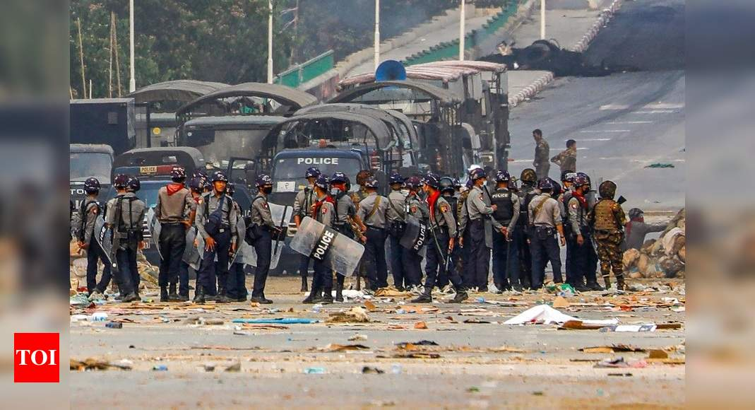 At least 14 Myanmar protesters killed in Yangon suburb, local media say - Times of India