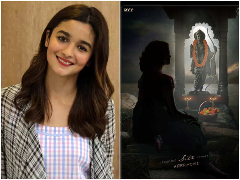 Alia Bhatt teases her fans with a silhouette image of her look from SS Rajamouli's 'RRR'; First look to be unveiled tomorrow !