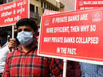 Bank unions hold protest against privatisation