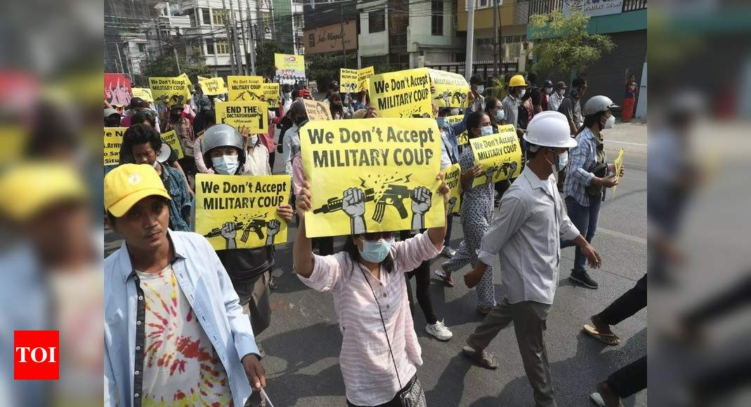 Hospital in Myanmar's Yangon received 34 bodies after Sunday violence: Media – Times of India