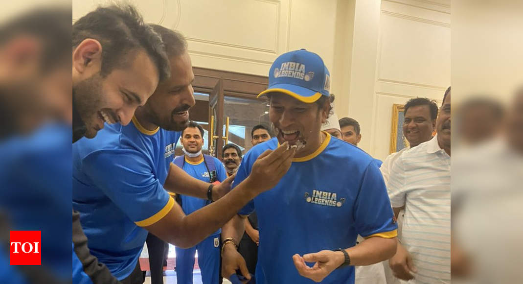 Road Safety World Series: India Legends celebrate 9th anniversary of Tendulkar's 100th ton   Cricket News – Times of India