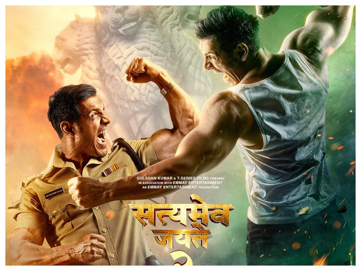 Satyameva Jayate 2': John Abraham shares a news poster of his Eid release,  actor to play a double role | Hindi Movie News - Times of India