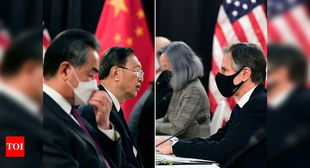 China claps back at US over human rights as Biden faces two-front challenge from Beijing and Moscow - Times of India