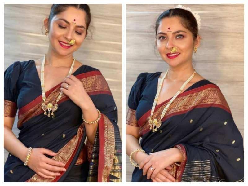 Sonalee Kulkarni looks incredibly beautiful in a black saree, see pics