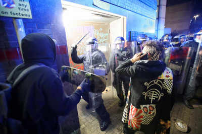 Several police officers seriously injured as violence erupts at Bristol protest
