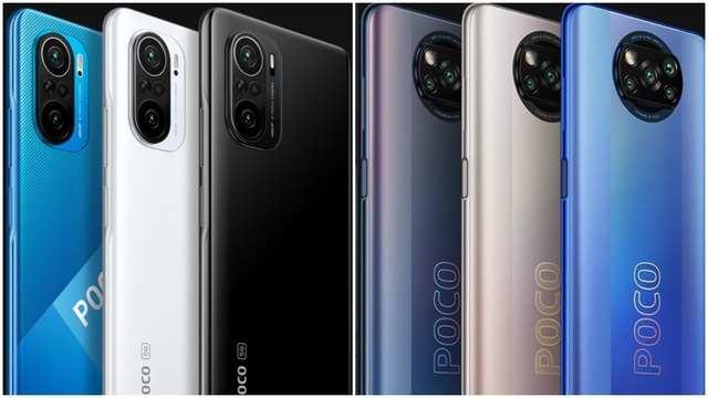 Poco F3 Pro (left); Poco X3 (right)
