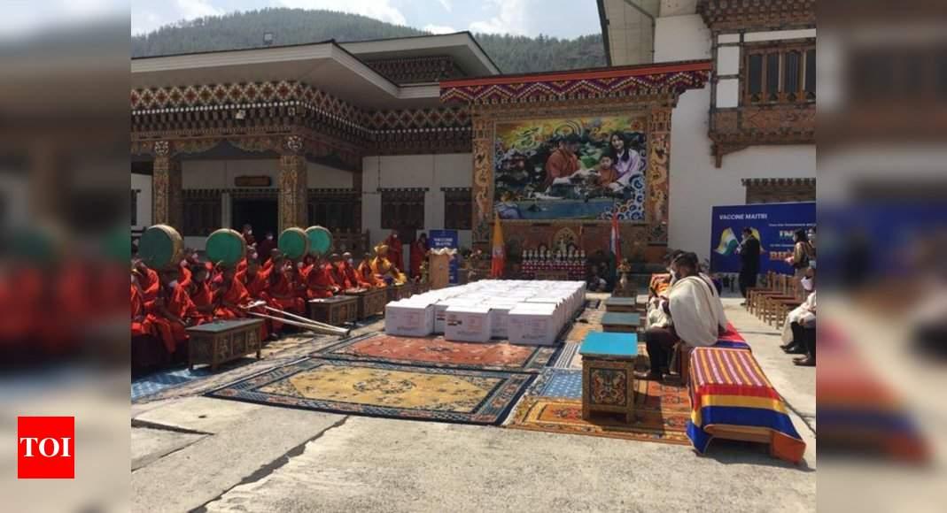 Bhutan PM thanks Modi for 4,00,000 more doses of Covid vaccine – Times of India