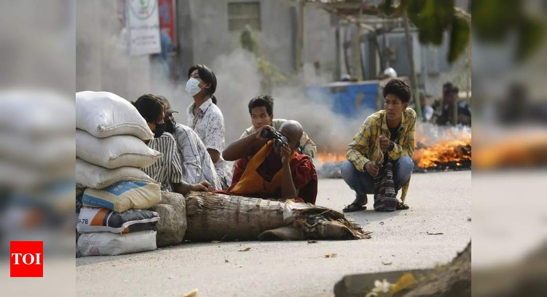 EU targets 11 Myanmar officials over coup, crackdown – Times of India