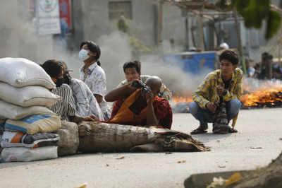 Myanmar junta blames protesters as EU, US imposed sanctions