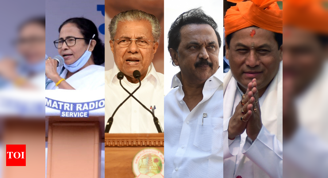 TMC to retain Bengal, LDF Kerala; tough fight in Assam, DMK back in TN: Opinion poll - Times of India