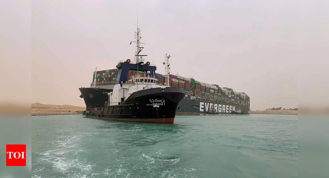 Stuck ship in Egypt's Suez Canal imperils shipping worldwide – Times of India