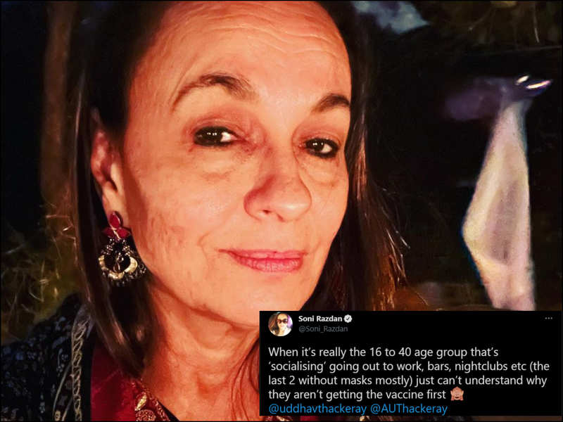 Soni Razdan can't understand why those in 16-40 age group are not getting  COVID vaccine first | Hindi Movie News - Times of India