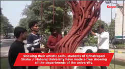 Art students make a tree showing all university departments