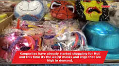 Masks and wigs high on demand this Holi