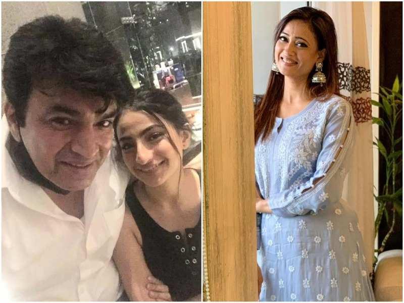 Raja Chaudhary with daughter Palak (R) Shweta Tiwari