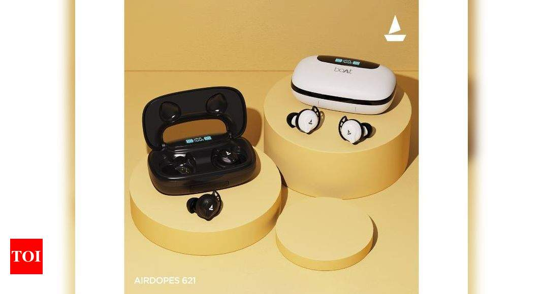 Boat launches Airdopes 621 TWS earbuds at Rs 2,999 – Times of India