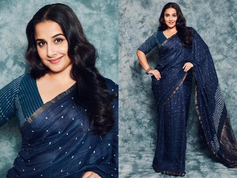 Vidya Balan's naturally dyed indigo sari is worth having a look