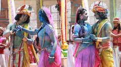RadhaKrishn: Sumedh Mudgalkar and Mallika Singh shoot for a grand Holi sequence