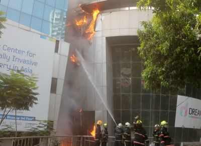 9 dead as fire devastates hospital inside Mumbai shopping center | India News
