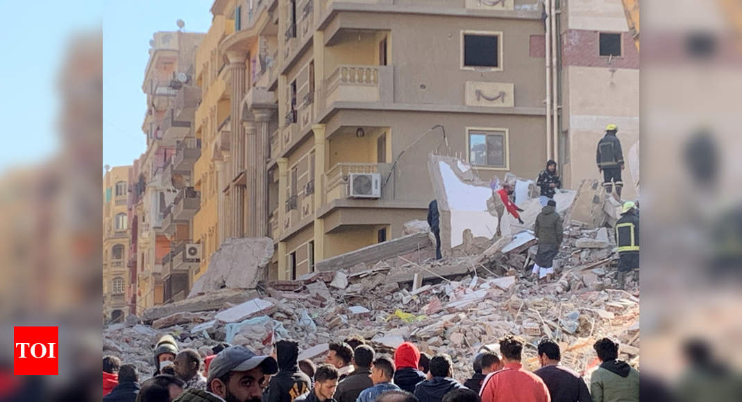 Building collapses in Egypt's capital killing 5, injuring 24 – Times of India