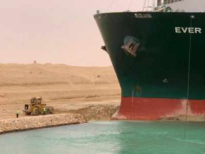 Suez Canal: Blocked ship could be refloated in hours