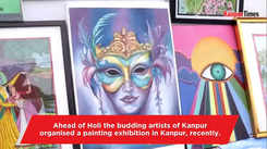Budding artists organise a painting exbition in Kanpur
