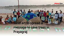 Sand art to spread a message to save trees in Prayagraj