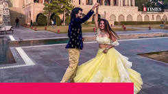 Actress Bhavini Purohit travelled to Jaipur with fiancé Dhaval Dave