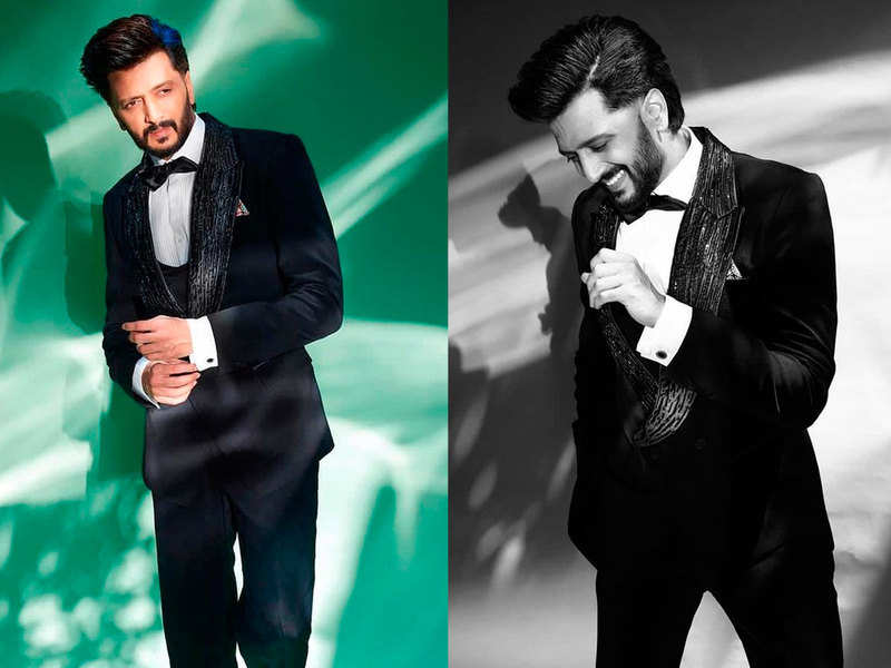 66th Vimal Elaichi Filmfare Awards 2021: Riteish Deshmukh gives serious men fashion goals in his all black suit