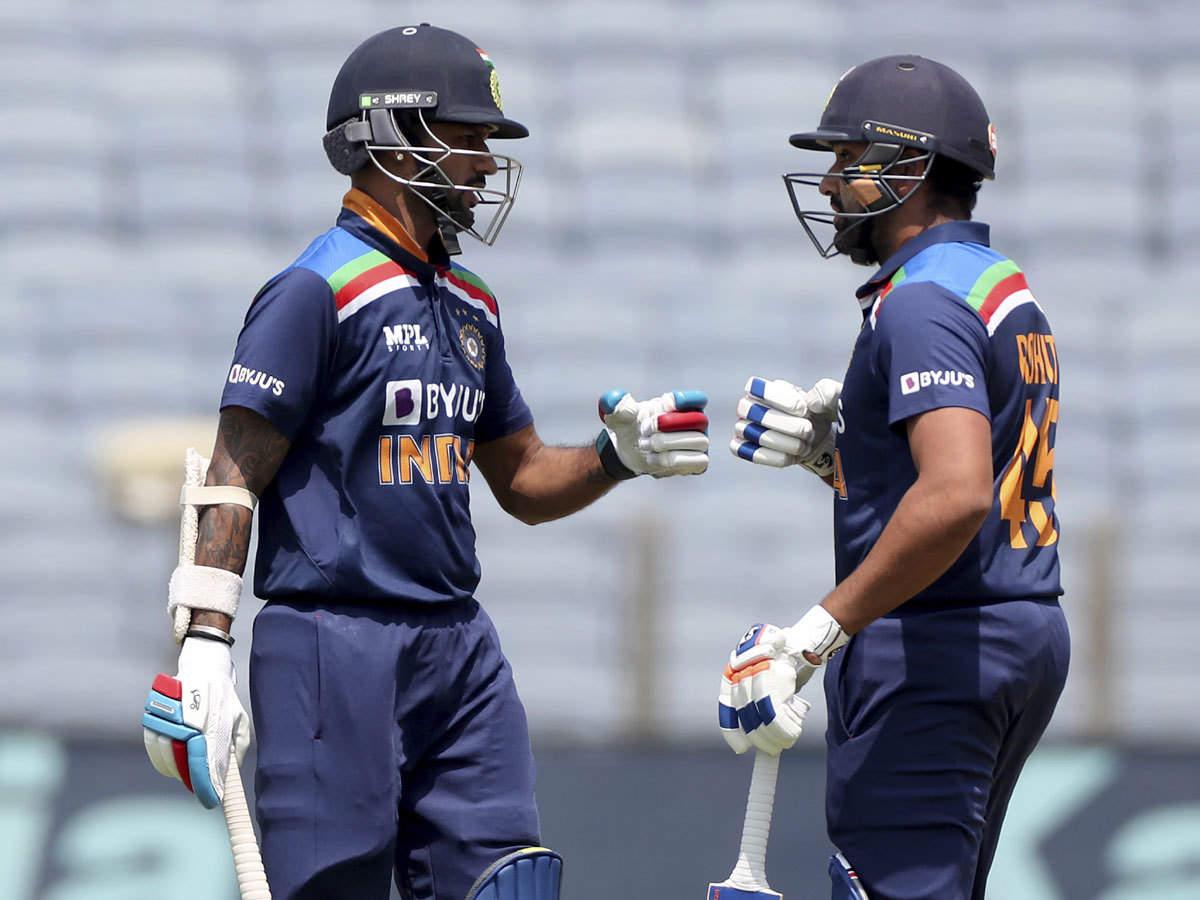India vs England: Rohit Sharma, Shikhar Dhawan complete 5000 partnership  runs in ODI cricket | Cricket News - Times of India