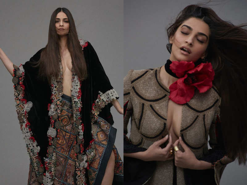 We can't take our eyes off Sonam K Ahuja's new photoshoot for Anamika Khanna